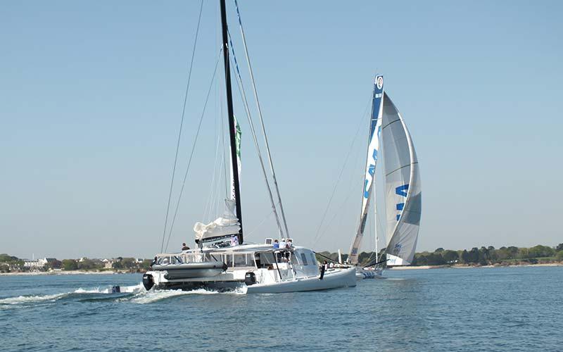 Location de bateau pour suivre les événement de course au large