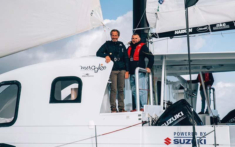 Michel Desjoyaux skipper Catamaran Z